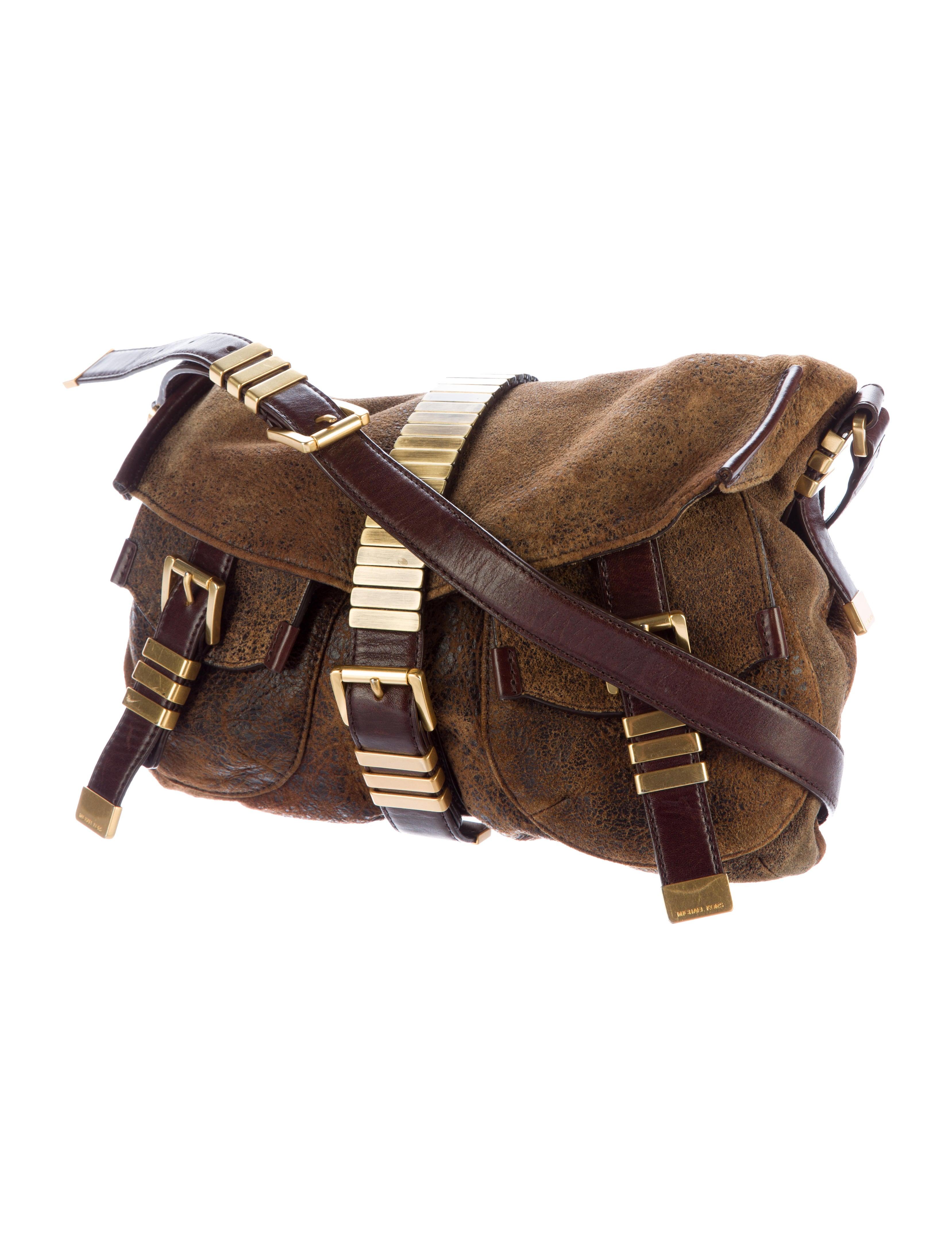 acad165699 Michael Kors Distressed Leather Messenger Bag - Handbags - MIC47925   The  RealReal