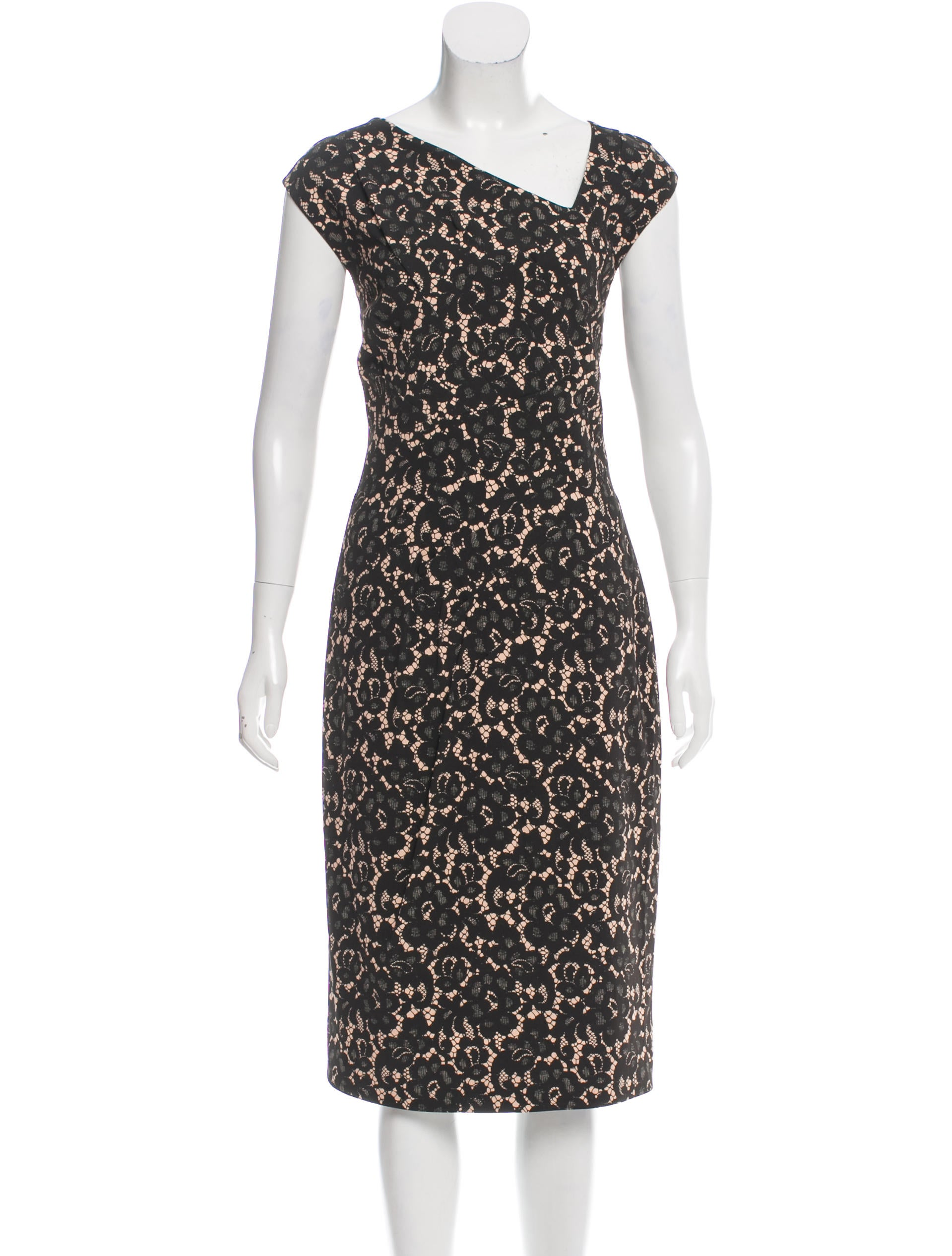 Michael Kors Lace Print Draped Dress - Clothing - MIC47980 ...