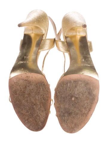 Metallic Suede Sandals