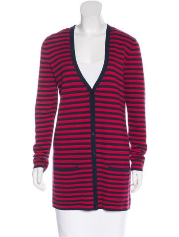 Michael Kors Striped Cashmere Cardigan w/ Tags None