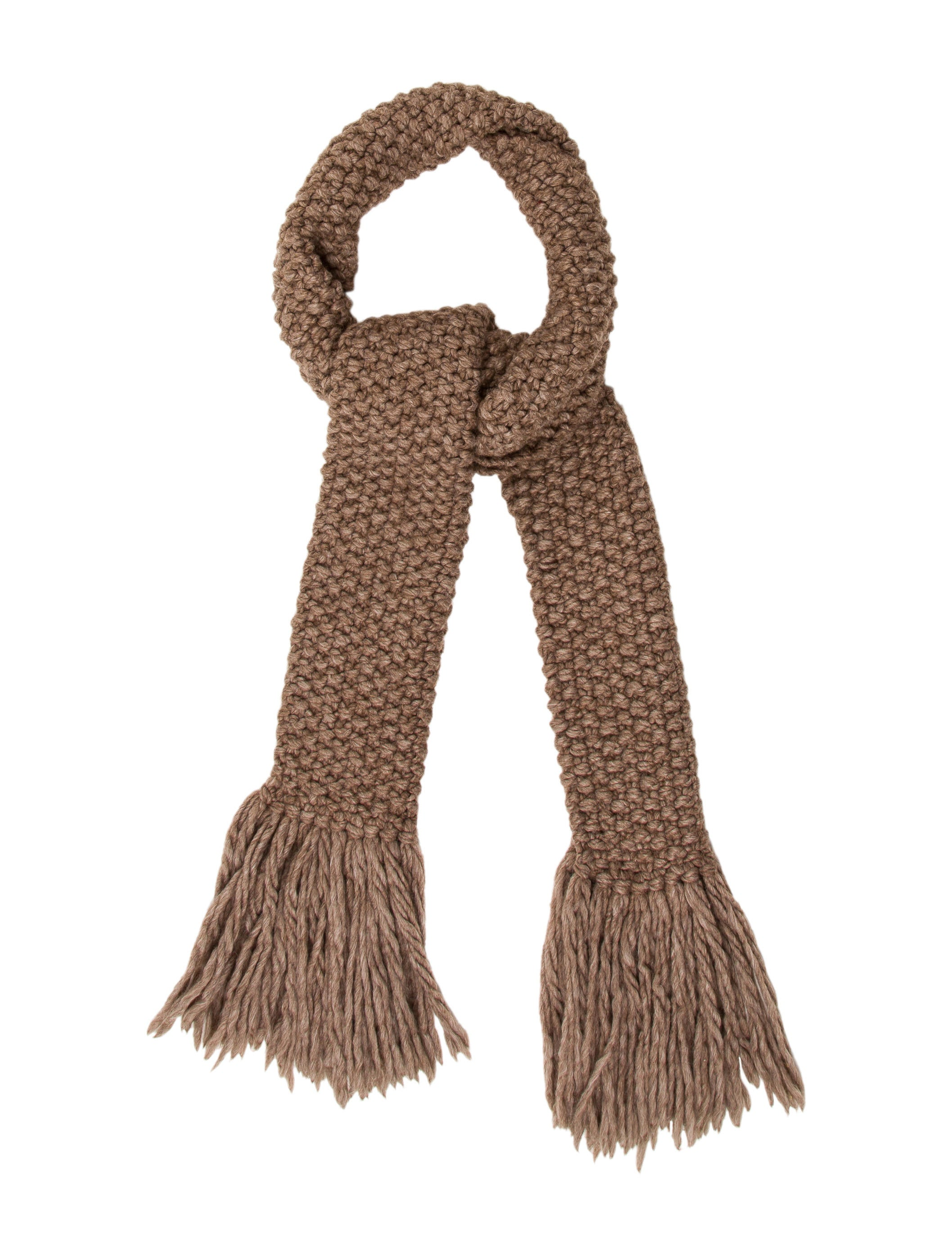michael kors cable knit fringe scarf accessories