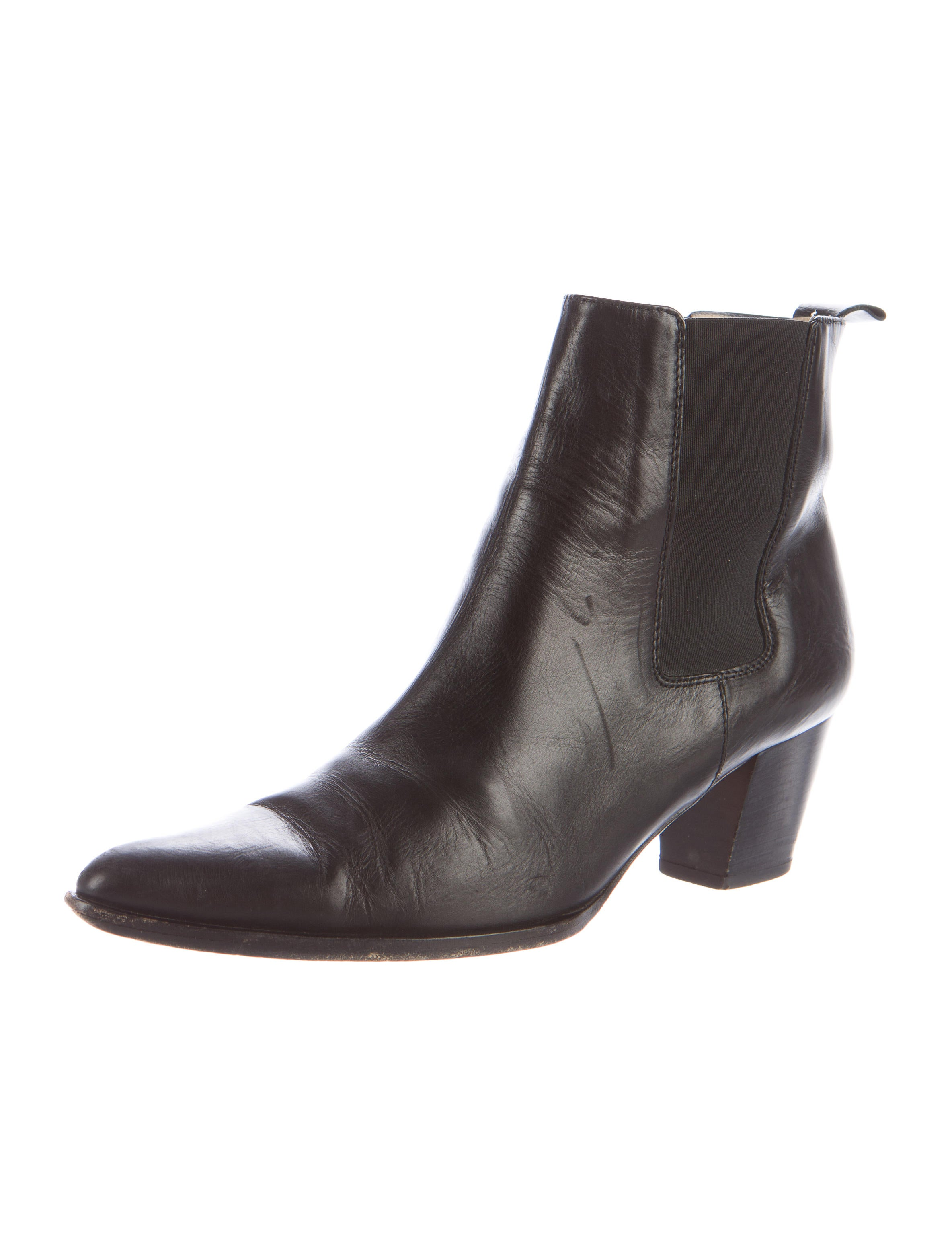 michael kors leather pointed toe boots shoes mic48266