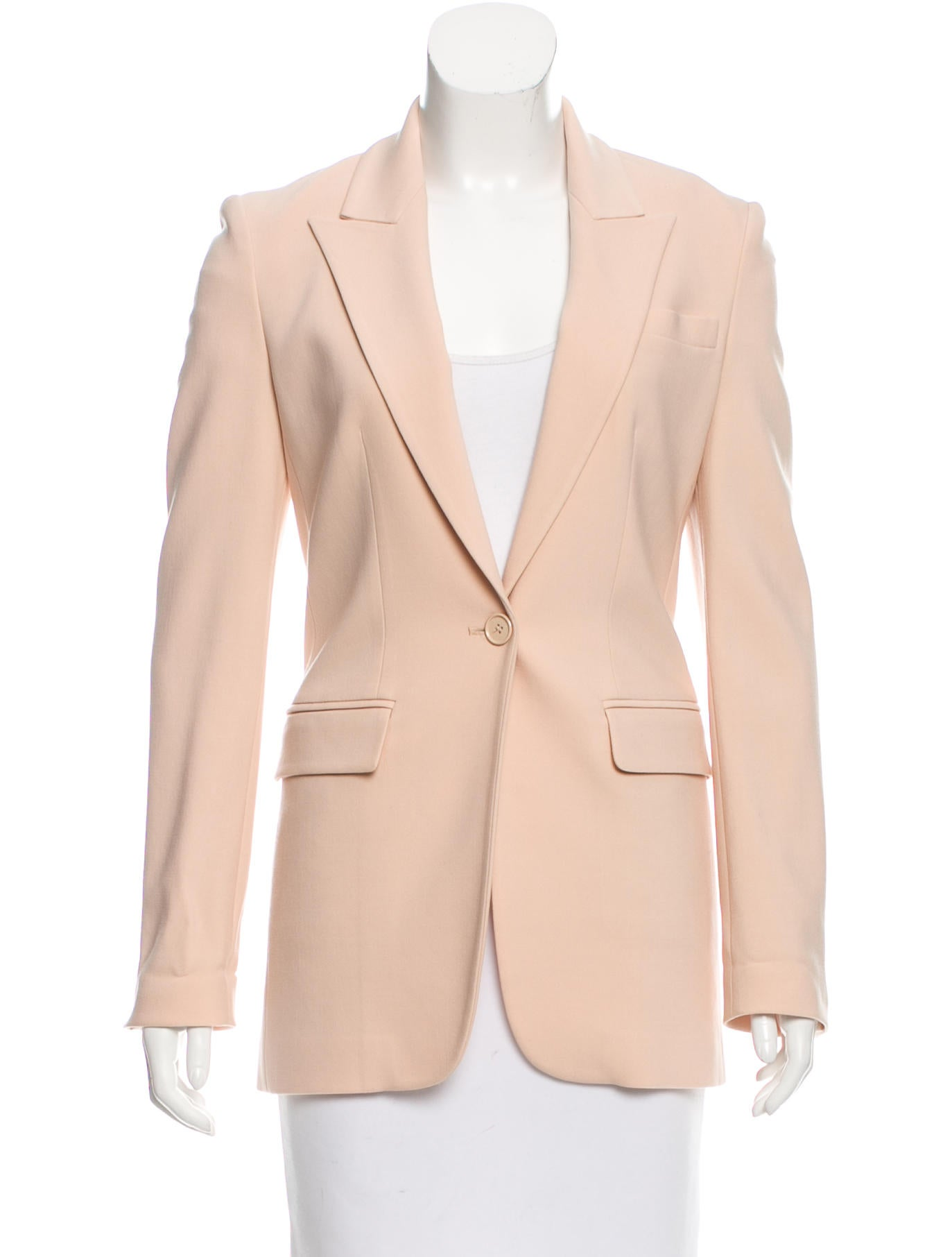 michael kors peak lapel button up blazer clothing mic48372 the realreal. Black Bedroom Furniture Sets. Home Design Ideas