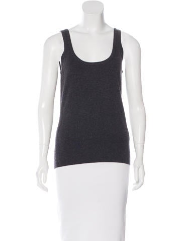 Michael Kors Sleeveless Rib Knit Top None