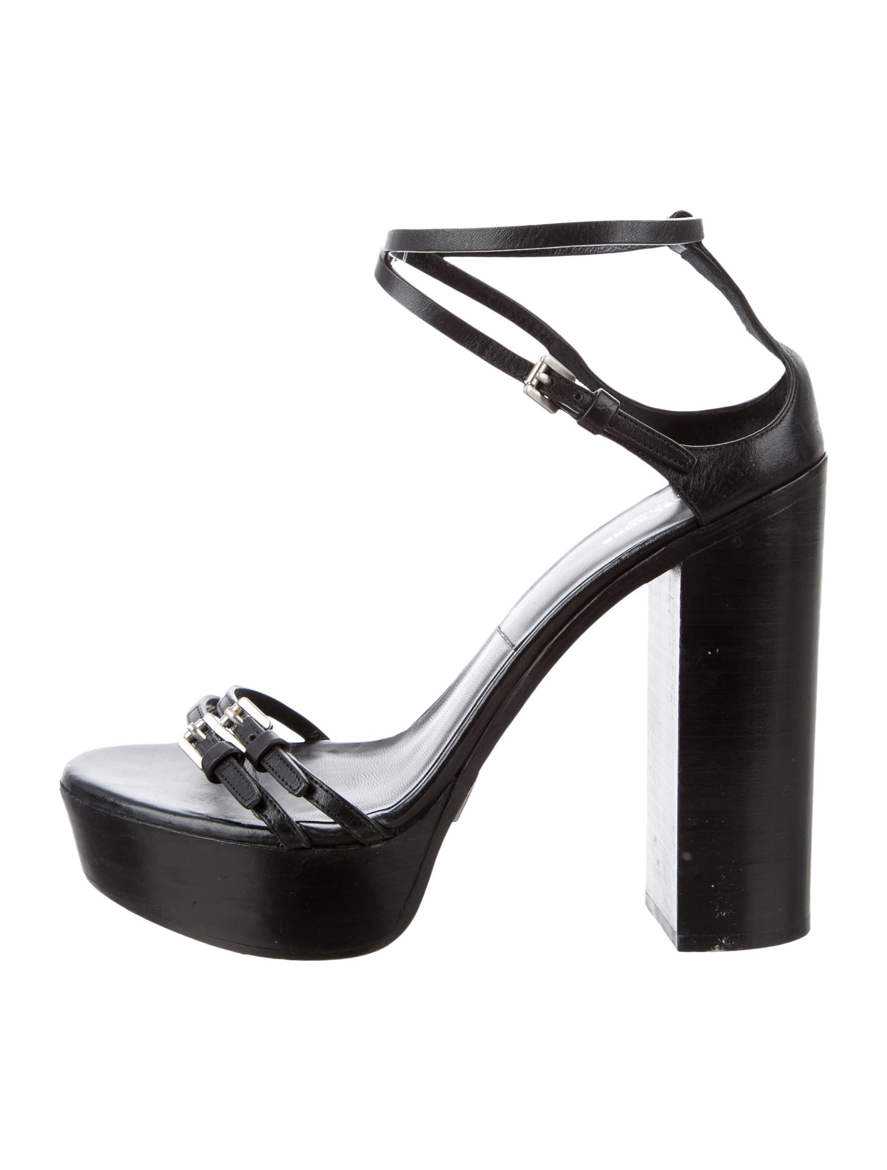 michael kors leather platform sandals shoes mic48705