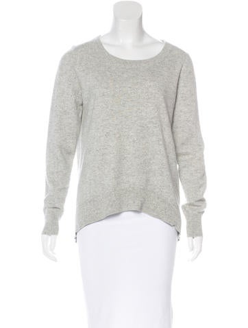 Michael Kors Cashmere-Blend High-Low Sweater None