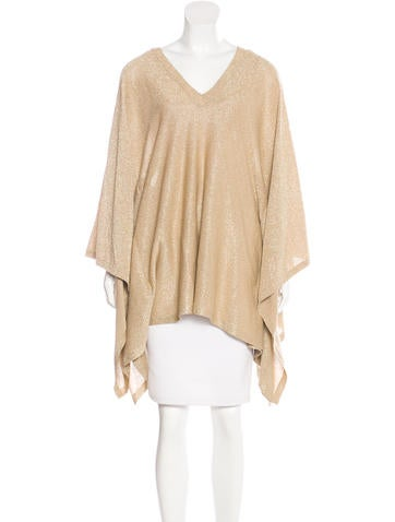 Michael Kors Metallic Rib Knit Sweater None