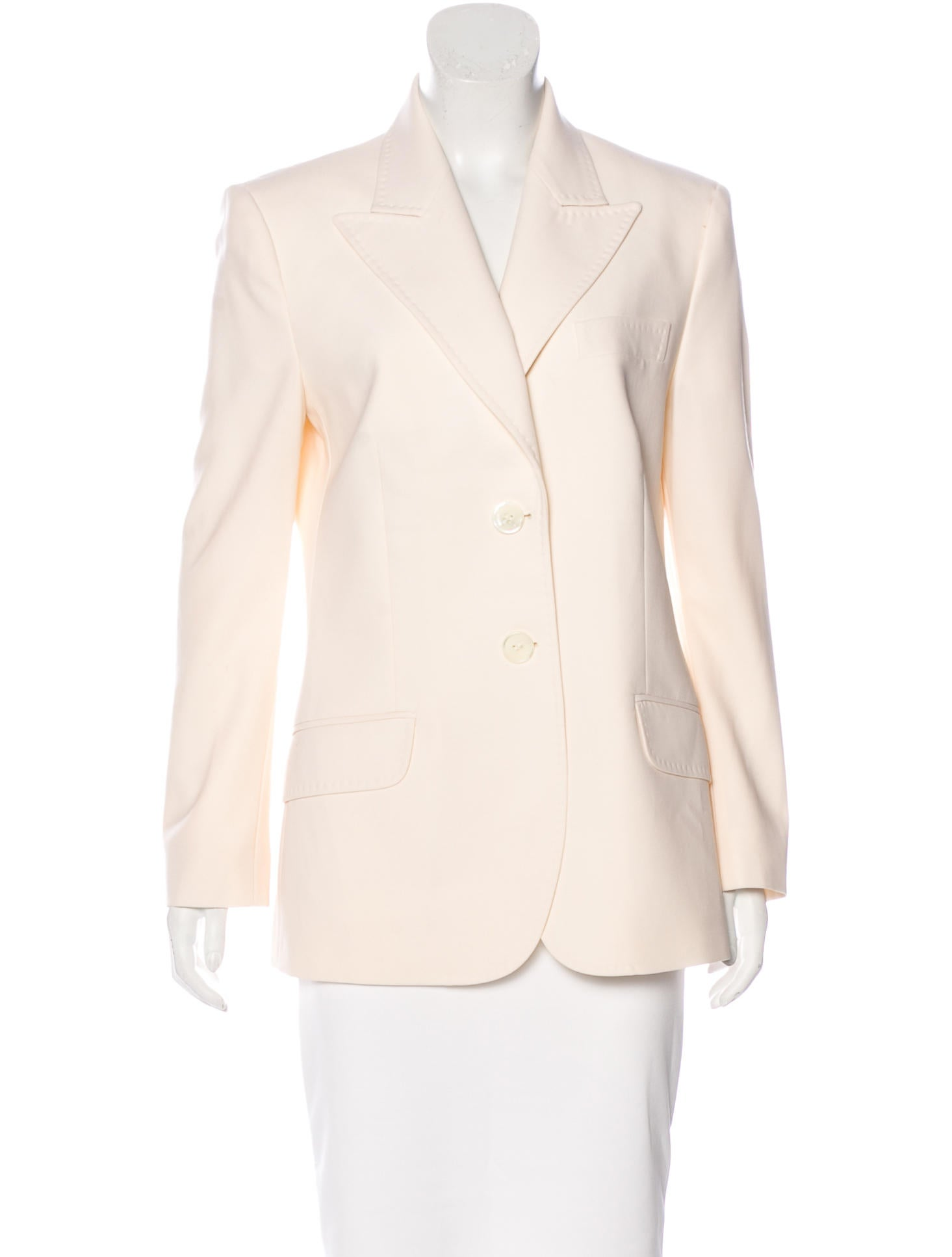 Shop long sleeves wool blazer at Neiman Marcus, where you will find free shipping on the latest in fashion from top designers.