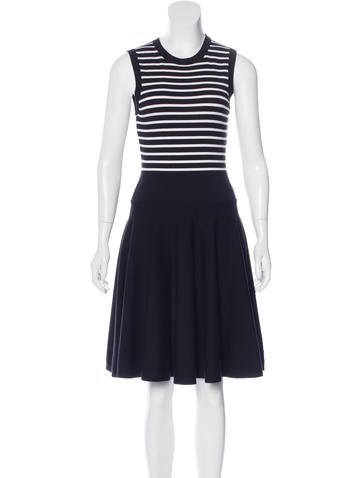 Michael Kors Wool Striped Dress None