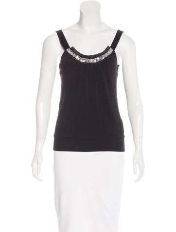Michael Kors Embellished Sleeveless Top None