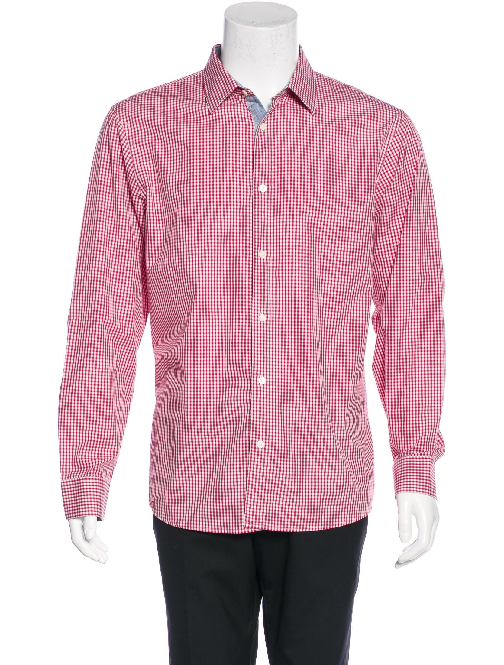 Michael kors gingham dress shirt clothing mic49251 for Men s red gingham dress shirt
