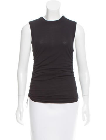Michael Kors Gathered Knit Top None