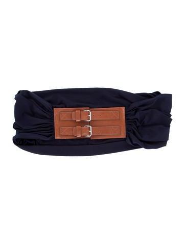 michael kors wide woven belt accessories mic49664