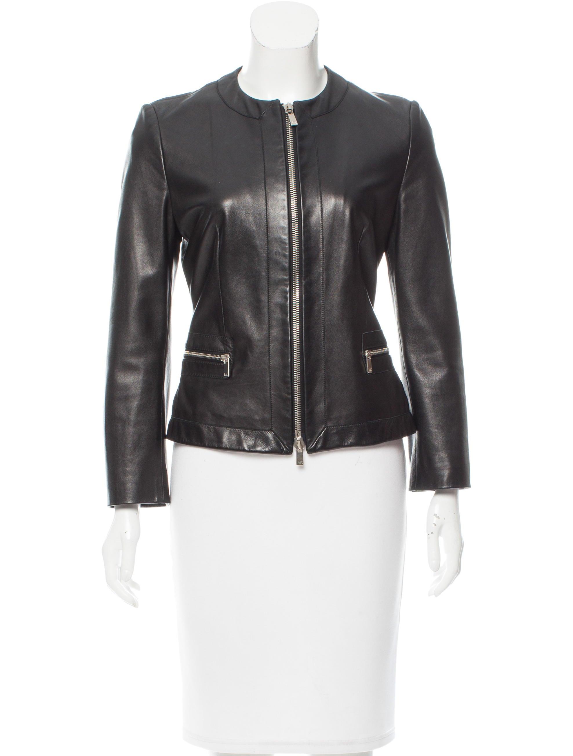 Michael kors ladies leather jacket