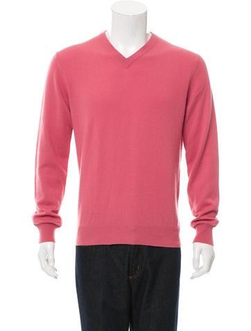 Michael Kors Rib Knit-Trimmed V-Neck Sweater None