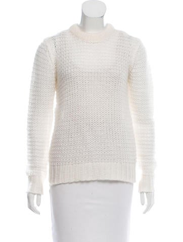 Michael Kors Crochet Crew Neck Sweater None