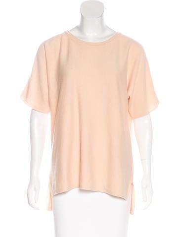 Michael Kors Short Sleeve Cashmere Top None