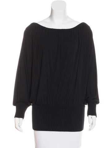 Michael Kors Long Sleeve Off-The-Shoulder Top None