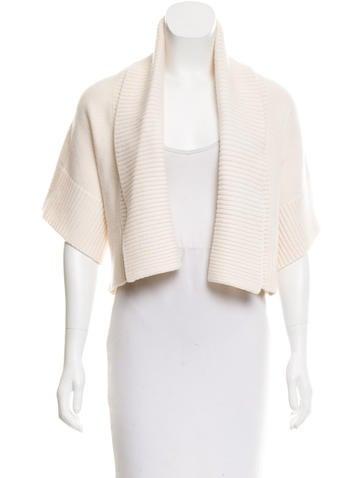 Michael Kors Cashmere & Wool-Blend Short Sleeve Shrug None
