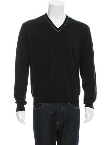 Michael Kors Rib Knit V-Neck Sweater None