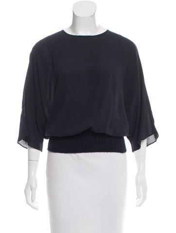 Michael Kors Silk Short Sleeve Top None