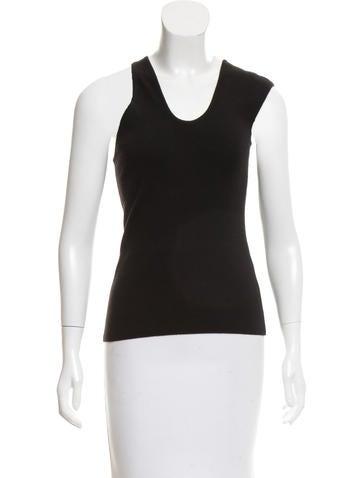 Michael Kors One-Shoulder Wool Top None