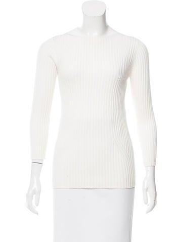 Michael Kors Rib Knit Long Sleeve Top None