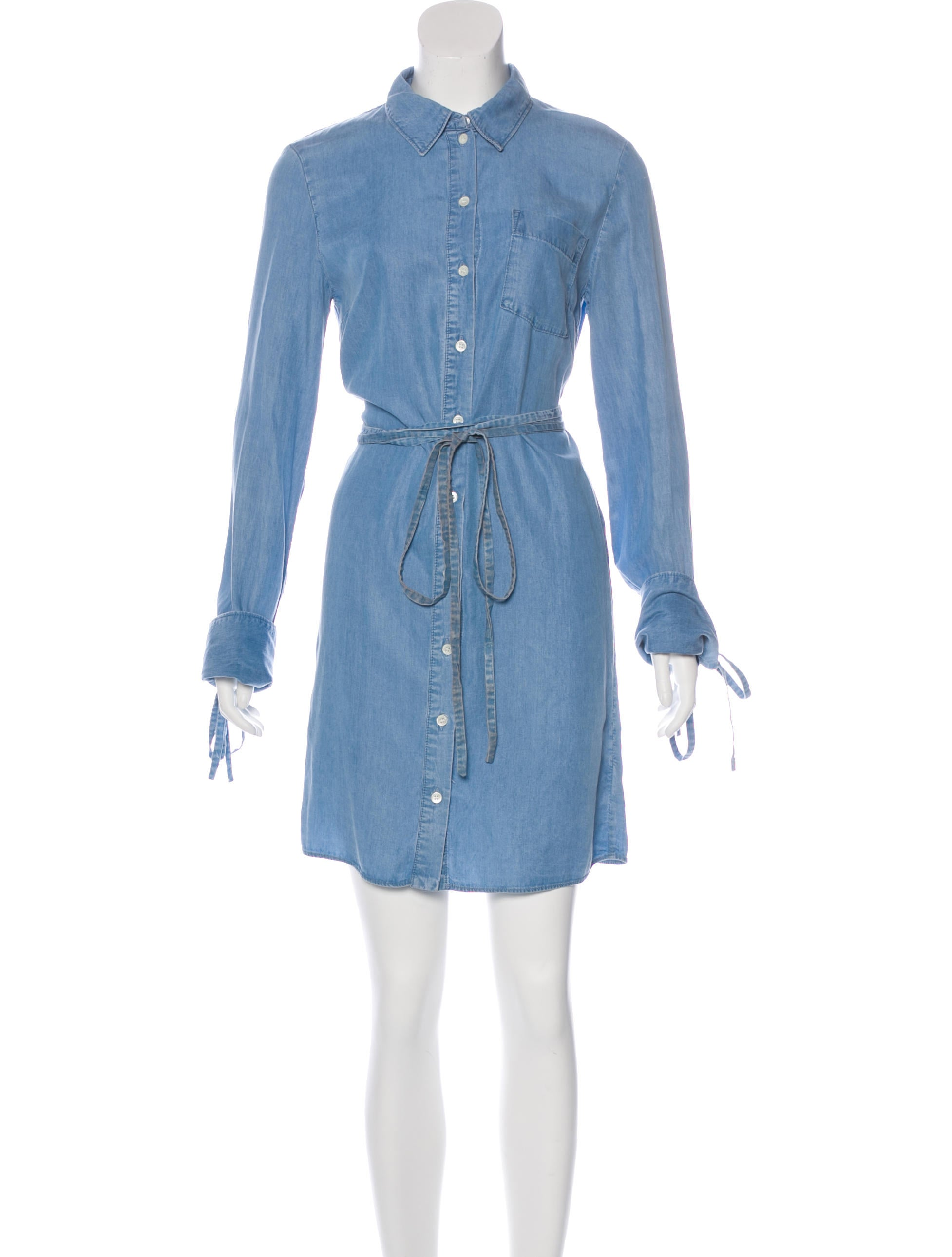 michael kors chambray shirt dress clothing mic51981 the realreal. Black Bedroom Furniture Sets. Home Design Ideas