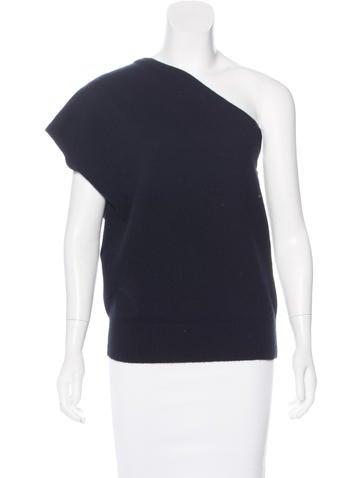 Michael Kors Cashmere One-Shoulder Top None