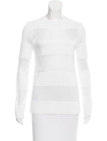 Michael Kors Striped Pattern Long Sleeve Top None