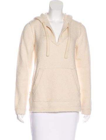 Michael Kors Wool-Blend Hooded Sweater None