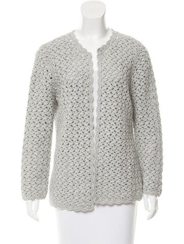 Michael Kors Open Knit Long Sleeve Cardigan None