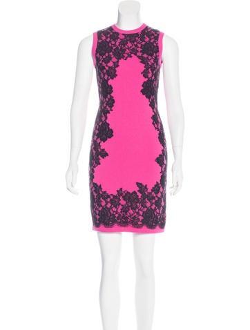 Michael Kors Cashmere-Blend Lace Dress None