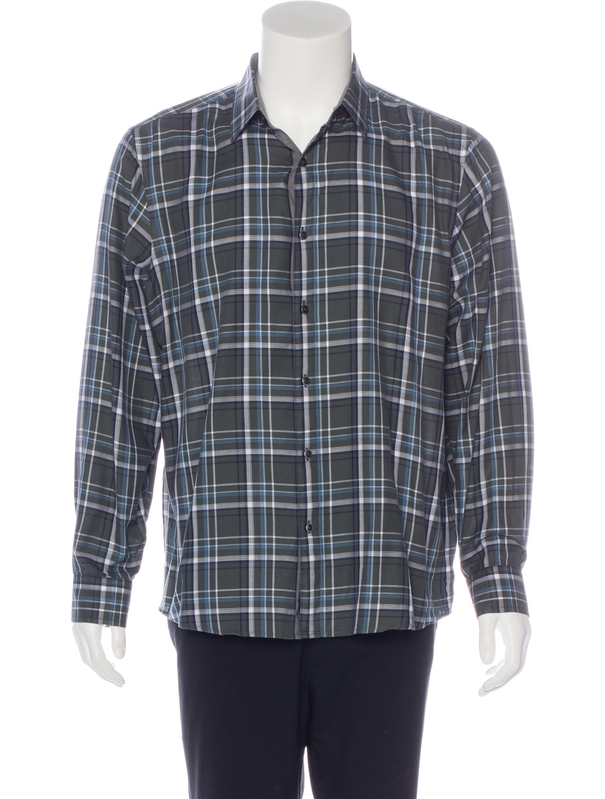 Michael Kors Plaid Long Sleeve Shirt Clothing Mic52802