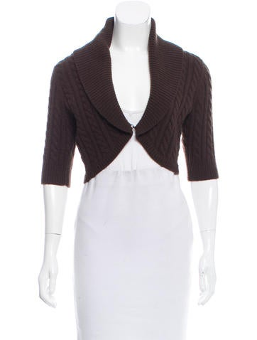 Michael Kors Cashmere Cable Knit Cardigan None