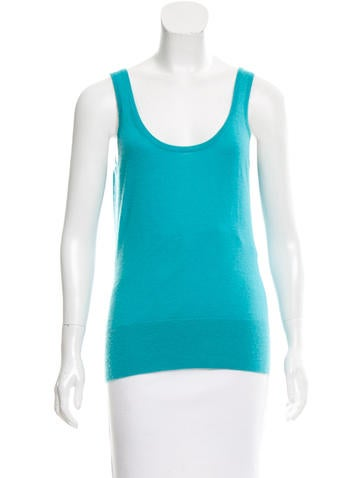 Michael Kors Cashmere & Silk Sleeveless Top None