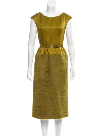 Michael Kors Silk & Wool Dress None