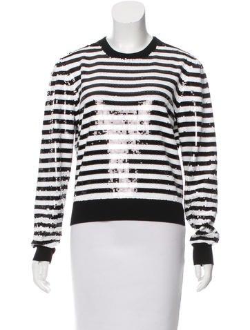 Michael Kors Merino Wool Sequined Sweater None