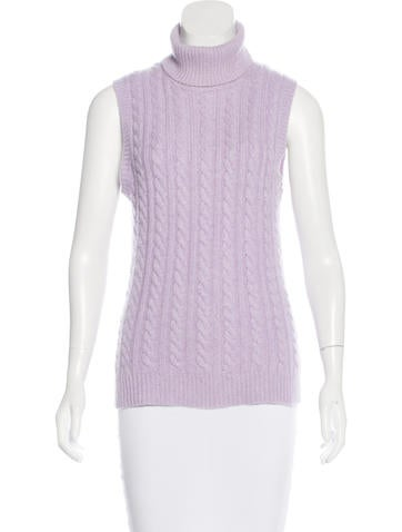 Michael Kors Sleeveless Cable Knit Top None