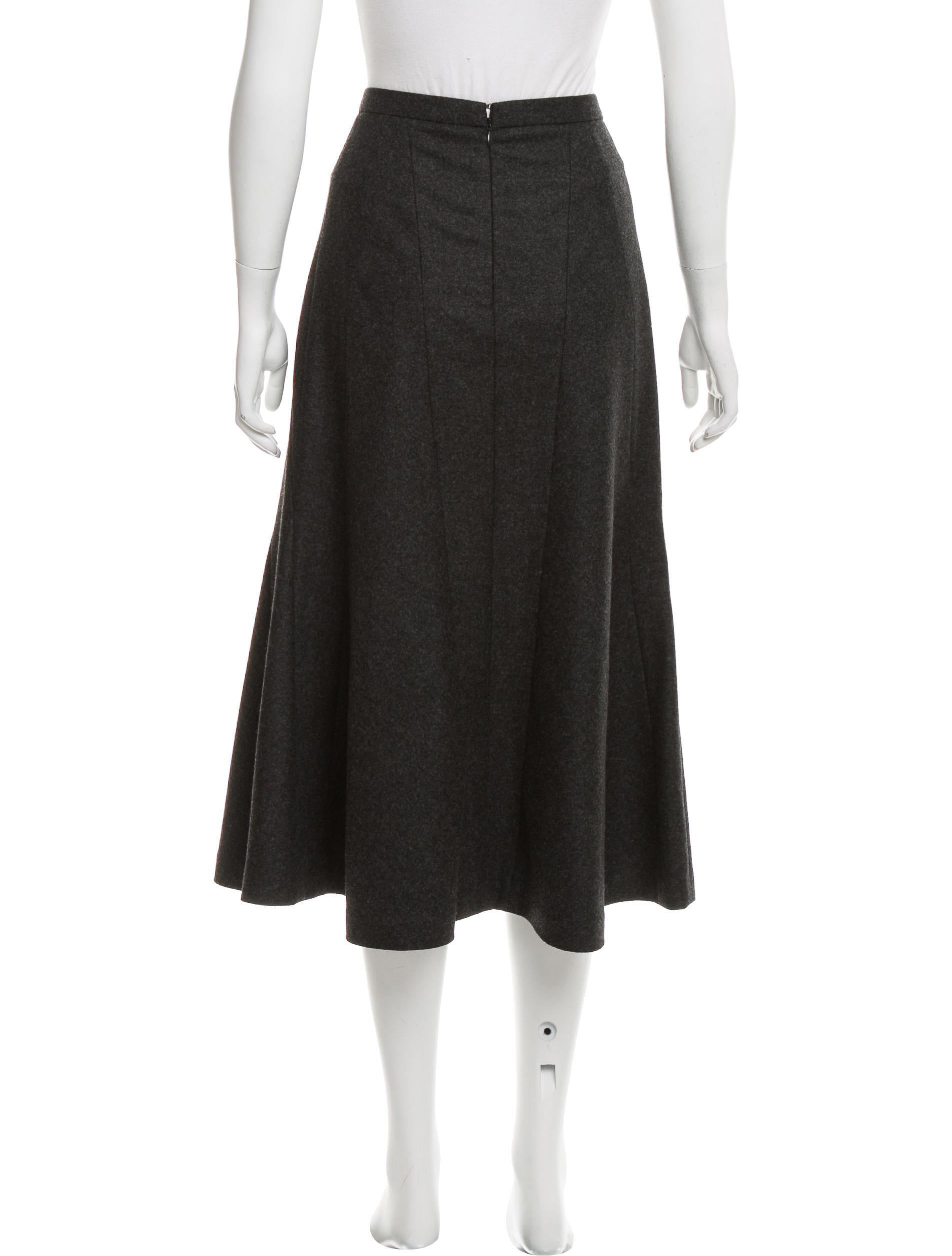 michael kors wool midi skirt clothing mic53319 the