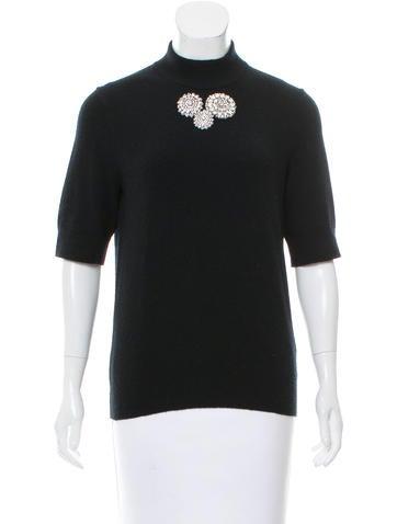 Michael Kors Short Sleeve Wool Top None