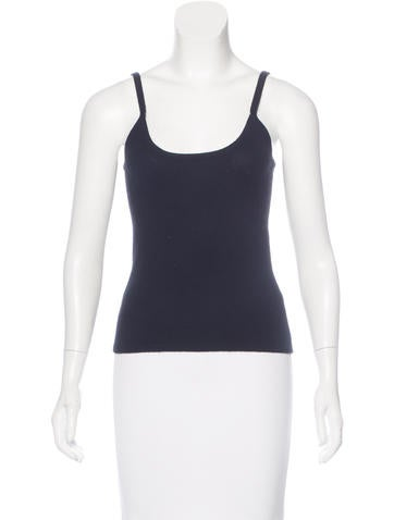 Michael Kors Cashmere Sleeveless Top None