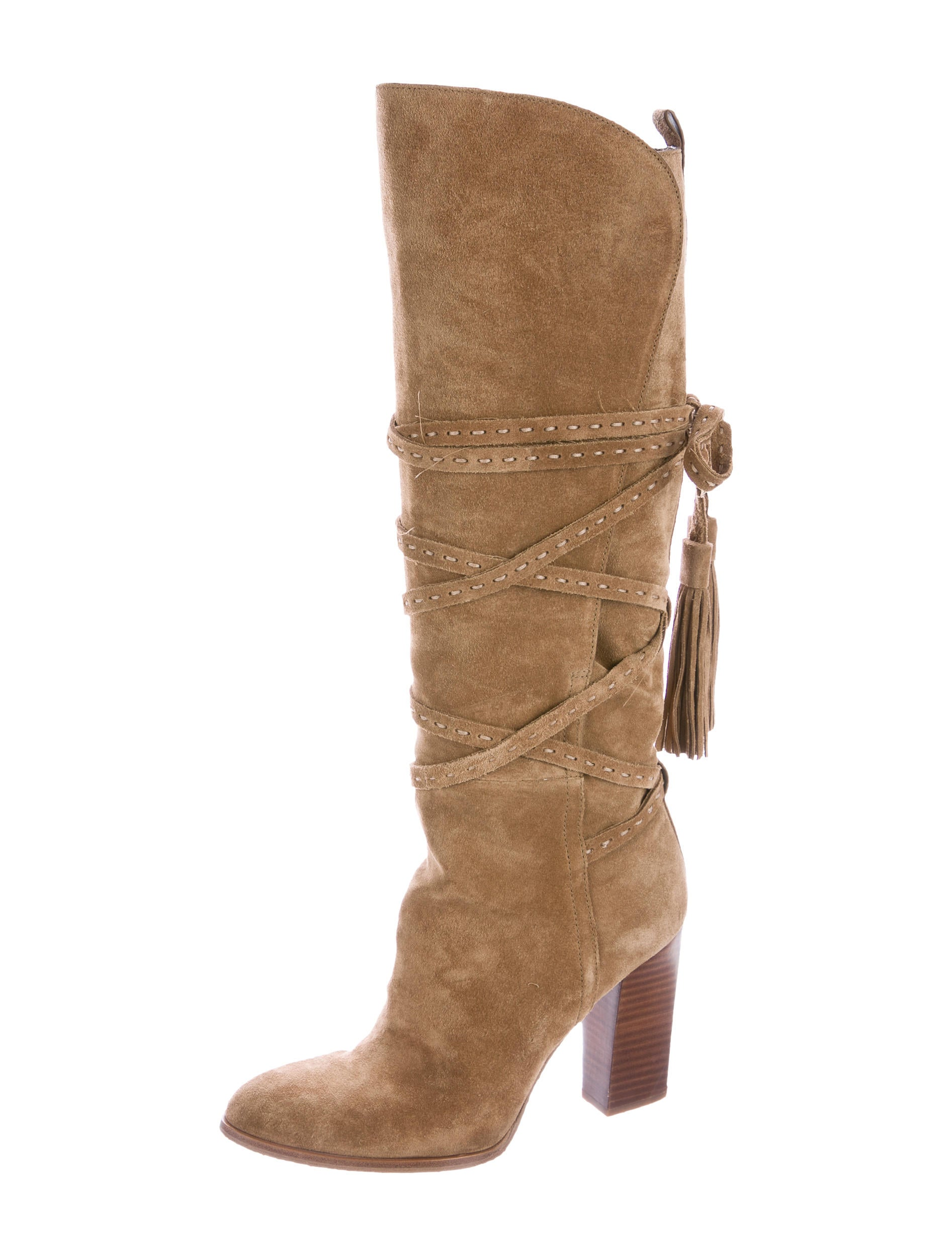 michael kors jessa suede knee high boots shoes