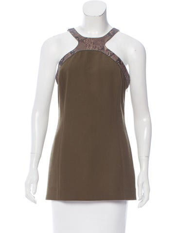 Michael Kors Sleeveless Wool Top None