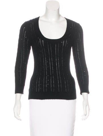 Michael Kors Embellished Knit Sweater None