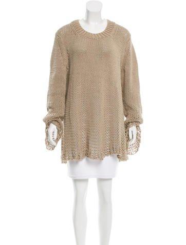 Michael Kors Open Knit Crew Neck Sweater None