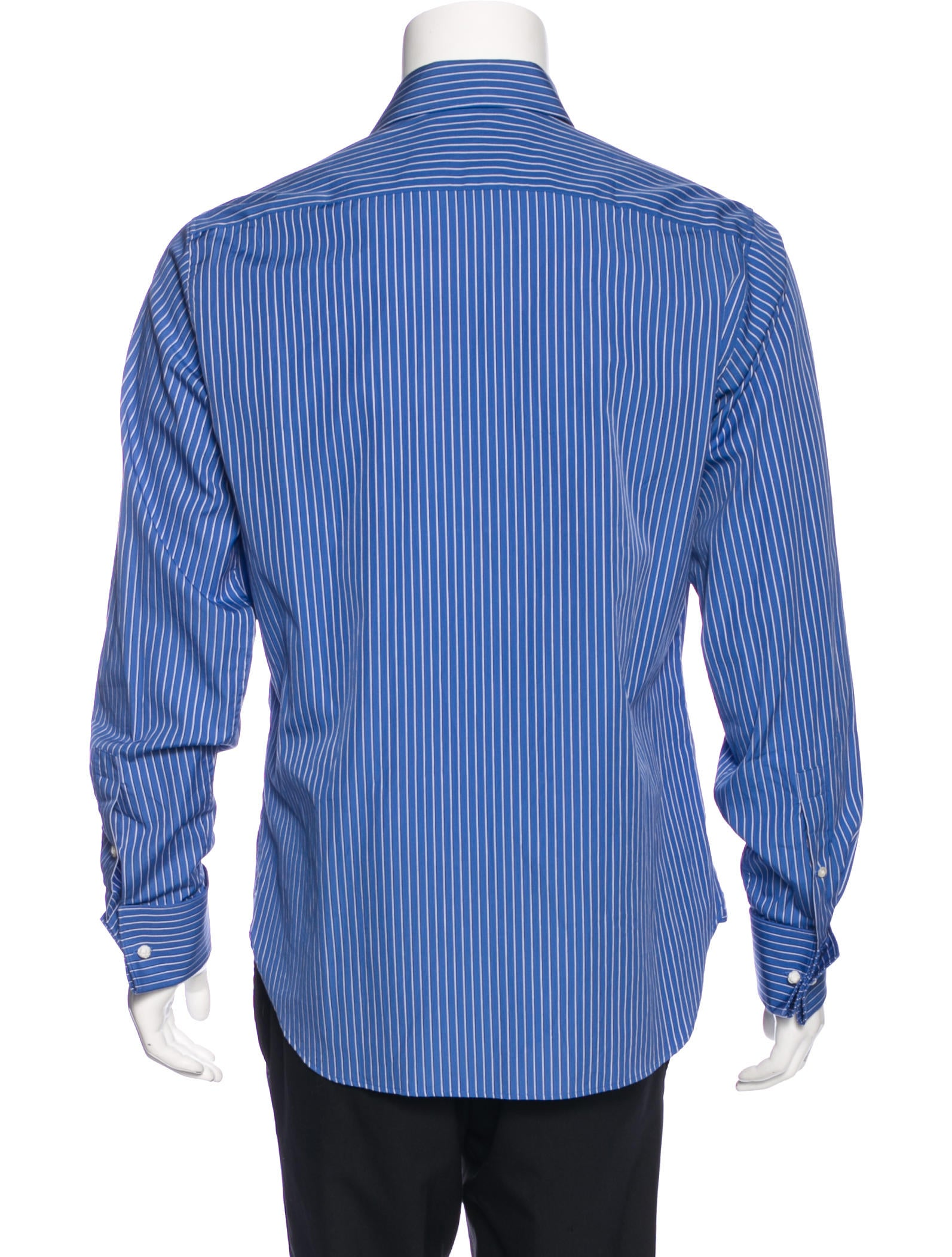 michael kors striped french cuff shirt clothing