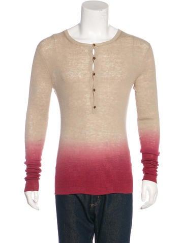 Michael Kors Ombré Rib Knit Top None