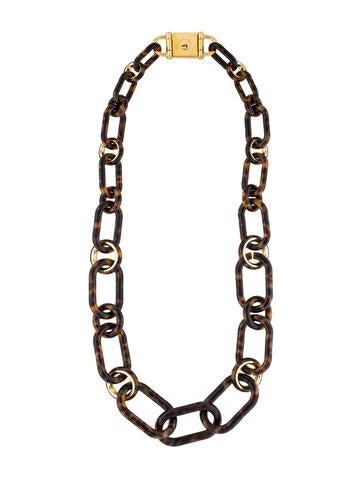 Michael kors tortoise shell link necklace necklaces for Real tortoise shell jewelry