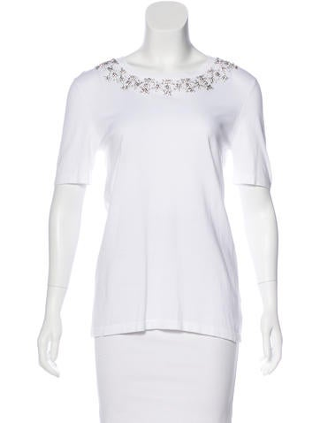 Michael Kors Embellished Knit T-Shirt None